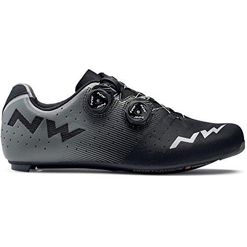 Northwave Revolution Rennrad Fahrrad Schuhe schwarz/grau 2018: Größe: 48