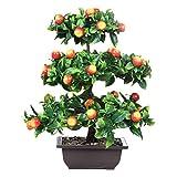 Zhhlinyuan Planta artificial Árbol de frutas Simulación Bonsai verde Adecuado para Ventana Restaurante Sala de estar Oficina Decoración de Jardín de Interior