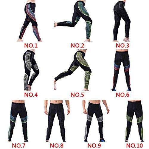 LUFA Pantaloni stretti respirabili da donna Uomini Sport pantaloni corti in elastico sportivo Blu + verde e uomini