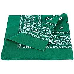 Alsino zandana Pañuelo Pañuelo Bandana Paisley costura 100% algodón Grün 59