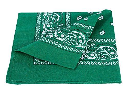 bandana, en cotton, paisley , vert 100% Cotton 59