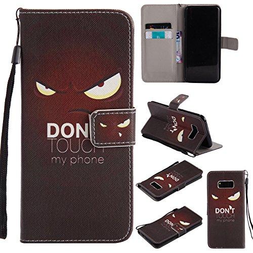 Cozy Hut Samsung Galaxy S8 Plus Hülle, PU Leder Flip Wallet im Bookstyle mit Standfunktion Karteneinschub und Magnetverschluß Etui Schutzhülle für Samsung Galaxy S8 Plus - Dunkle Augen