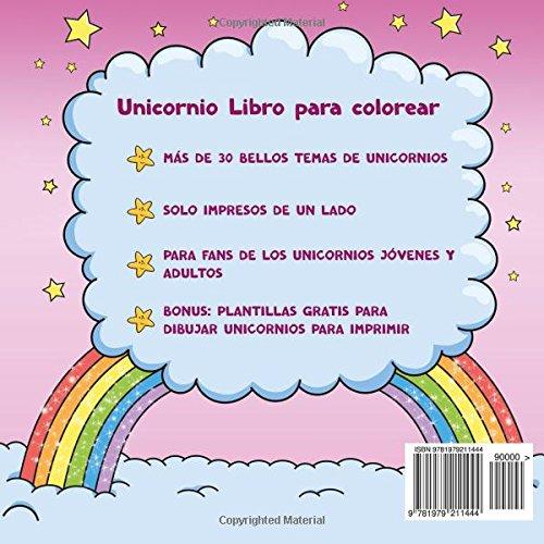 Unicornio Libro para colorear para niños y adultos + BONO ...