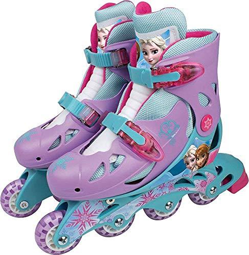 Disney Kinder Skating 4 Weel Verstellbar Frozen Inline Rollschuhe Boot 34-37