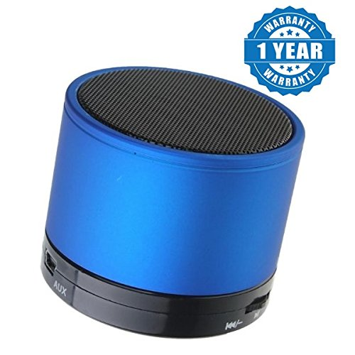 Captcha Rechargeable S10 Bluetooth Speaker Mini Stereo Speaker with TF Card Slot Compatible with Xiaomi Mi, Apple, Samsung, Sony, Lenovo, Oppo, Vivo and ALL other Smartphones (1 Year Warranty, Color May Vary)