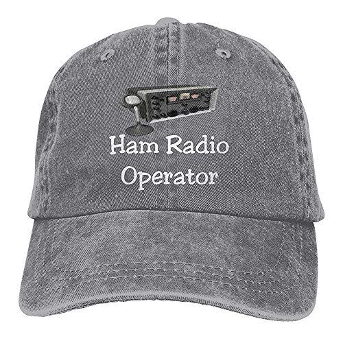 UUOnly Männer oder Frauen einstellbar garngefärbte Denim-Baseball-Cap Ham Radio Operator Plain Cap Radio-cap-baseball-cap