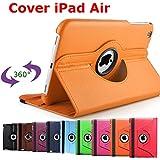 King Cameleon Orange pour Apple iPad air - Housse de protection multi angle et rotative à 360°- 1 STYLET OFFERTS !!!