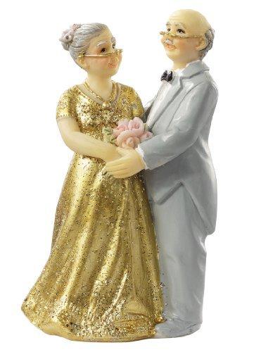 Goldene Hochzeit * Goldhochzeitspaar II * Tortendekoration * Tortenfigur * Tischdekoration