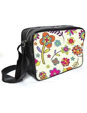 Snoogg Abstrakt Designs Leder Unisex Messenger Bag für College Schule täglichen Gebrauch Tasche Material PU