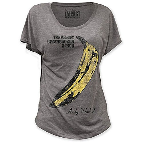 Banana Juniors T-shirt (Velvet Underground Distressed Banana Dolman Juniors T-shirt L Heather Grey)