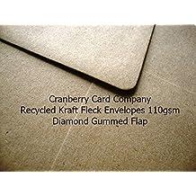 C5/A5Premium C5 reciclado de sobres Kraft por Cranberry Card Company 100unidades