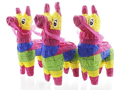 iatur Esel Pinatas–Rainbow mini-sized mexikanischen für Geburtstag, Cinco De Mayo, festen, Feiern 4x 7,55,1cm (Cinco De Mayo Spiele)