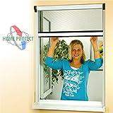 Insektenschutzrollo für Fenster 80x160cm Profi Alu Bausatz weiss
