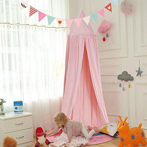 Yosoo princess dome, tenda gioco per la camera dei bimbi, zanzariera per interni ed esterni, facile da appendere; altezza 2,4m, con decorazione acchiappasogni