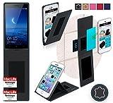 Für Oppo Find 7 Schutz Hülle Case Walletcase schwarz