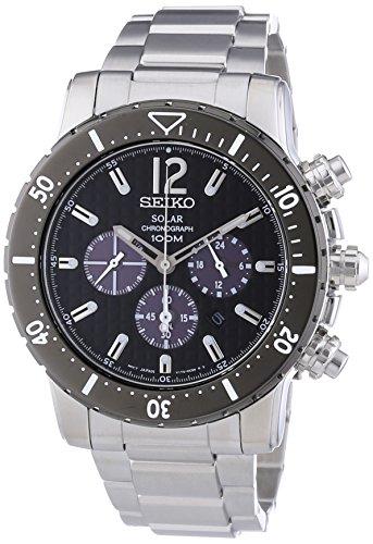 Seiko Herren-Armbanduhr Solar Chronograph Quarz Edelstahl SSC245P1