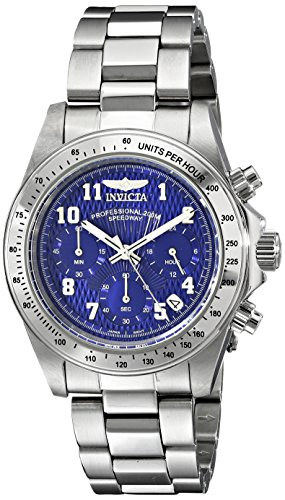 Invicta 17024 Speedway Unisex Wrist Watch Stainless Steel Quartz Blue Dial