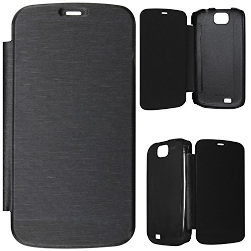 DMG PU Leather Flip Book Cover Case for Micromax Bolt A71 - Black  available at amazon for Rs.199