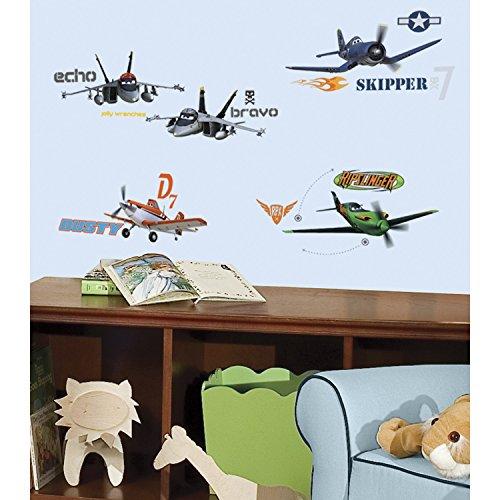 RoomMates 21400 - Disney Planes Wandtattoo/Sticker, geblistert, 4 Blätter, 43 Elemente