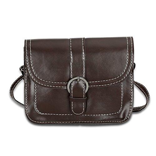 Faysting EU donna borsa a tracolla borsa a spalla pelle materiale clamshell con magnetico pulsante buon regalo san valentino A