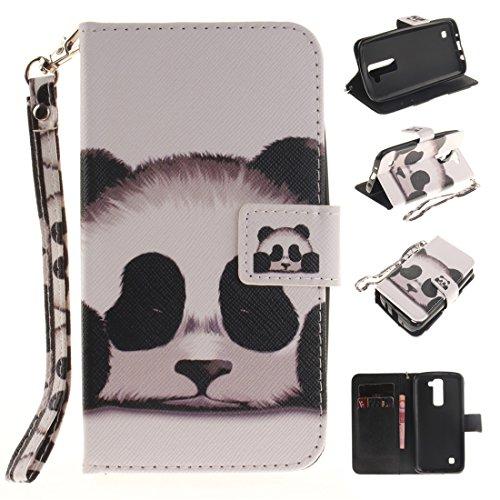 Nancen LG K7 / K8 / LG Tribute 5 (5,0 Zoll) Handytasche / Handyhülle. Flip Etui Wallet Case in Bookstyle - Premium PU Lederhülle Hülle Cover Mit Lanyard / Strap, Standfunktion, Kreditkarte und Brieftasche