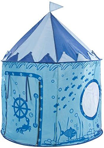 Trespass Chateau, Aquatic, Spielzelt 130cm x 105cm mit UV-Schutz & Tragetasche für Kinder/Unisex / Mädchen und Jungen, Blau