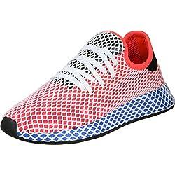 adidas Herren Deerupt Runner Gymnastikschuhe, Rot (Solar Red/Solar Red/Bluebird), 44 EU