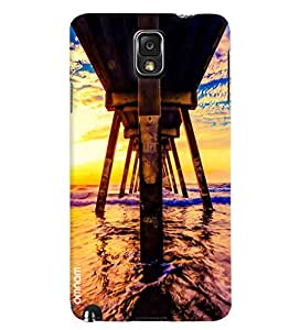 Omnam Downside Of Water Bridge Printed Designer Back Cover Case For Samsung Galaxy Note 3
