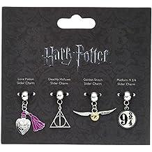 Ufficiale di Harry Potter 4 pezzo Multi Slider Bracciale Charm Set - piattaforma Snitch