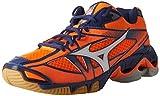Mizuno Herren Wave Bolt 6 Laufschuhe, Mehrfarbig (Orange Clownwhite), 44.5 EU