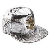 West See Unisex Baseball Caps Kappen Hut Snapback Partner-Cap Hip Hop Baseballmütze (Silber)