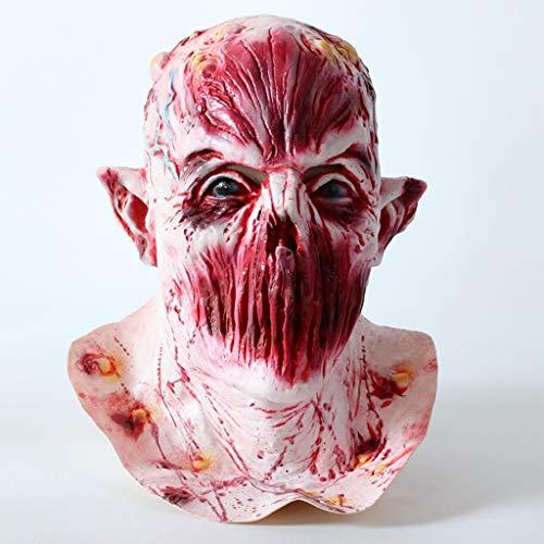 Maske Deluxe Terror Ein Ghost Chasing Maske Kein Mund Schuld Kopf Latex Spielzeugtier Kopf Maske Für Lustige ()