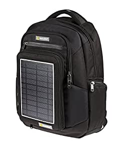 Solarrucksack SunnyBAG Explorer Schwarz mit integriertem Solarladegerät, schwarz