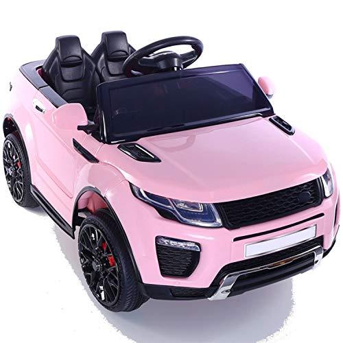 Fp-tech auto elettrica per bambini macchina suv 2 posti 2wd 12v con telecomando usb mp3 (rosa)