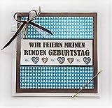 Kartenkunst 5x Einladungskarten Bayern zum RUNDEN Geburtstag *30./40./50./60./70./80./90./*Handmade*