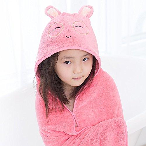 Flyingsky Baby Kinder Kapuzen Wrap Decke Ultra Soft Badetuch Waschlappen Bad, 120 x 120 cm für Kinder Kleinkinder