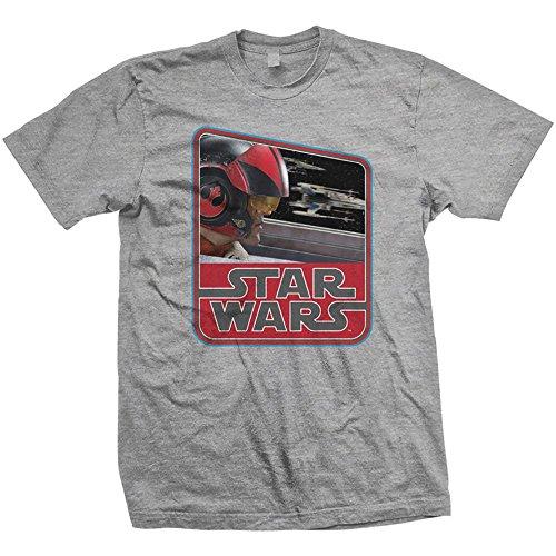 Star Wars Vintage T-Shirt Motiv: EPVII Dameron (Günstige Star Wars T Shirts)