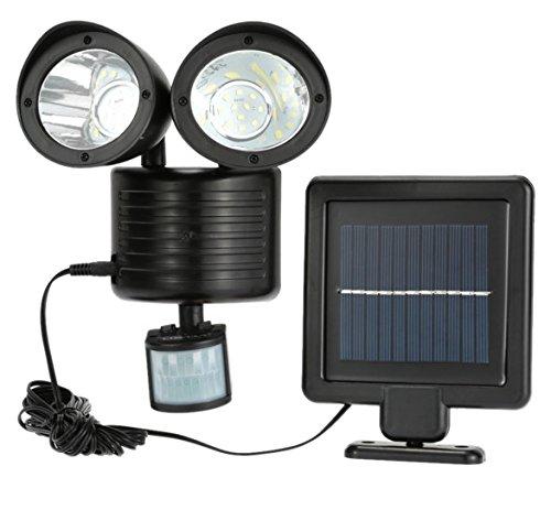 Solar-power-lampen (newnen 22LEDs Solar Light Dual Head PIR Bewegungsmelder Garten Yard Wand Spot Licht Sicherheit Lampe drehbar Wasserdicht Solar Power Lampe)