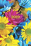 2019: Calendario/Scadenzario: 1 settimana per 2 pagine, Formato 6' x 9' (15.24 x 22.86 cm), Copertina Fiori