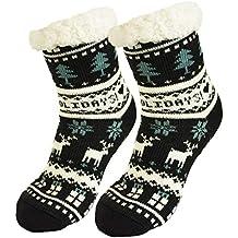 Ferocity Mujer Calcetines térmicos ricos en algodón para resbalón para el invierno ...