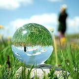 Kitechildhrrd Kristallkugel Fotokugel Glaskugel Fotografie K9 Klare Kristallkugeln Glas Crystal Ball Photography ✔ für Meditation und Heilung ✔ für Dekoration ✔ Fotokugel aus Glas (80mm)