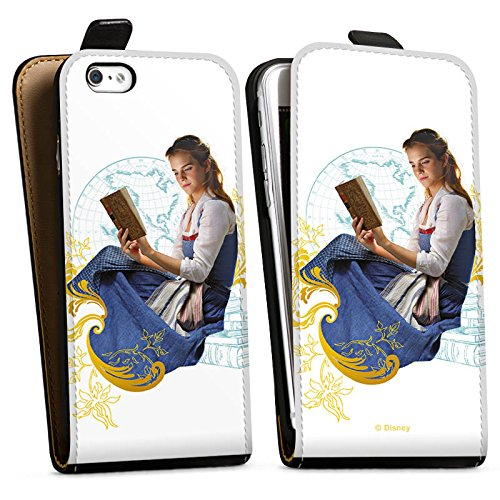 Apple iPhone X Silikon Hülle Case Schutzhülle Die Schöne und das Biest Belle Disney Prinzessin Downflip Tasche schwarz