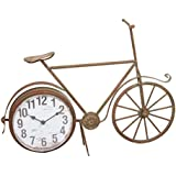 Bicicleta con reloj marrón antiguo