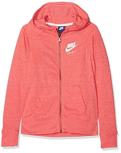 Nike Mädchen G NSW VNTG Hoodie FZ Sweatshirt, rosa (sea Coral/Sail), S (Hoodie Mädchen Nike)
