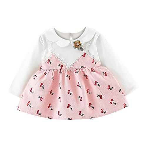 k Baby Mädchen Sommer Kleidung Straps Party Rock Set Outfit Stil Punkt Schmetterlings Bogen Kleidung Urlaub Sommer Strandkleid Party Prinzessin Kleid ()