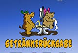 Getränkerückgabe schild aus blech tin sign lustig klo-ordnung toilette hippo