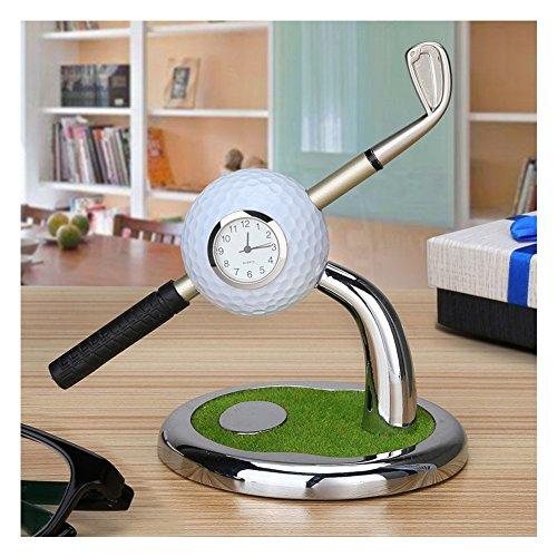 Balle de golf pour stylos à bille en forme de club de golf et une balle de golf Forme Horloge