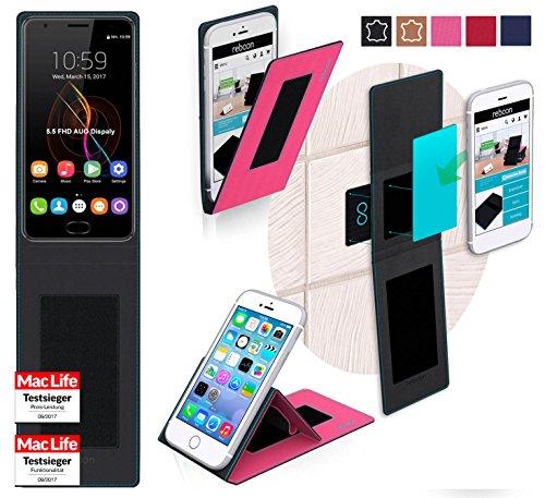 reboon Hülle für Oukitel K6000 Plus Tasche Cover Case Bumper | Pink | Testsieger