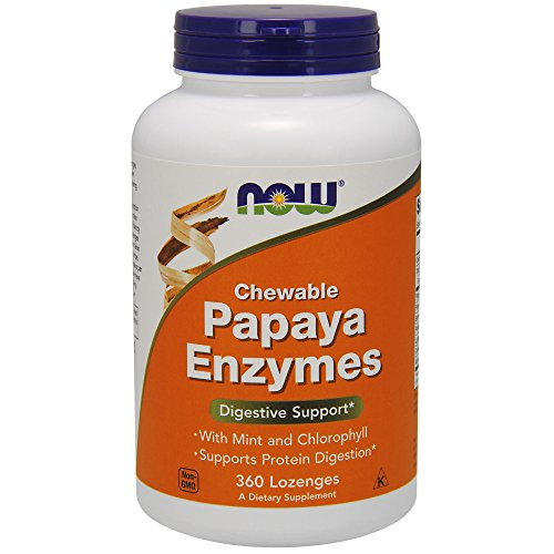 NOW NF Papaya Enzyme Chewable, 360 lozenges