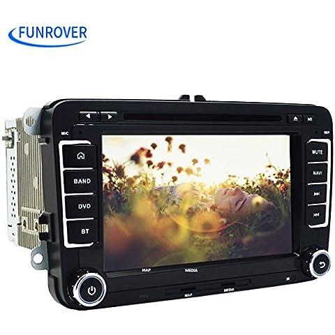 7inch Android 5.1QuadCore 2DIN HD 1024* 600touch screen per VW/Seat/Skoda Serie in dash auto lettore DVD GPS Supporto stereo di navigazione GPS/SD/USB/FM/AM/Radio/Bluetooth/specchio Link/Bluetooth/volante controllo multimediale di sistema